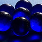 Marbles Blue 1 C Art Print