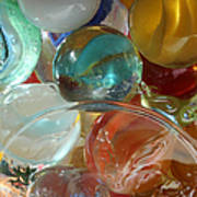 Marbles In A Jar Print by Mary Bedy