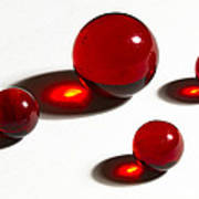 Marbles Red 2 Art Print