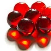 Marbles Red 3 C Art Print
