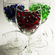 Marbles Wine Glasses 2 Art Print
