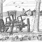 Marbletown Farm Equipment Art Print