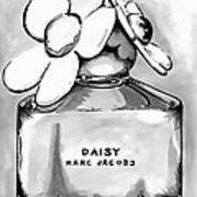 Marc Jacobs Daisy B Lack And White Art Print
