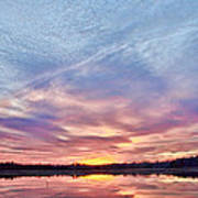 March Sunset At Whitesbog Art Print