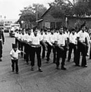 Marchers Number 1 100th Anniversary Parade Nogales Arizona 1980 Black And White  Art Print