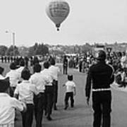Marchers Number 2 100th Anniversary Parade Nogales Arizona 1980 Black And White  Art Print