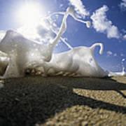 Marching Foam Art Print