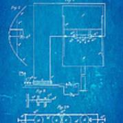 Marconi Radio Patent Art 1897 Blueprint Art Print