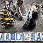 Mardi Gras Artwork Art Print by Ray Devlin