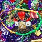 Mardi Gras Beads 1 Art Print