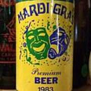 Mardi Gras Beer 1983 Art Print