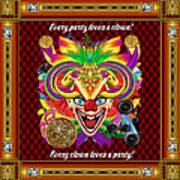 Mardi Gras Clown Style 1 Vector Sample Art Print