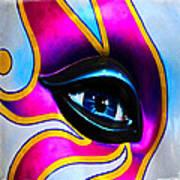 Mardi Gras Eye Art Print