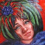 Mardi Gras Girl Art Print