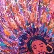Mardi Gras Girl Revisited Art Print