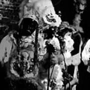 Mardi Gras Indians At The Gold Mine Saloon In New Orleans Art Print