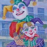 Mardi Gras Jesters Art Print