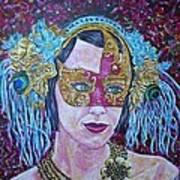 Mardi Gras Art Print by Linda Vaughon