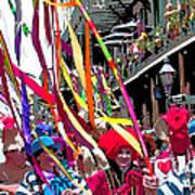 Mardi Gras Marching Parade Art Print