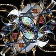 Mardi Gras Medusa Art Print