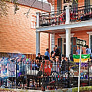 Mardi Gras Party On St Charles Ave New Orleans Art Print