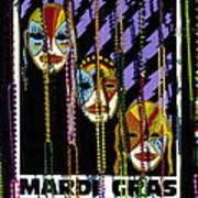 Mardi Gras Poster New Orleans Art Print