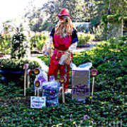Mardi Gras Scarecrow At Bellingrath Gardens Art Print