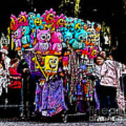 Mardi Gras Vendor's Cart Art Print