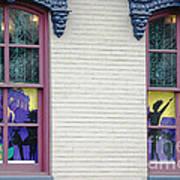 Mardi Gras Windows Art Print