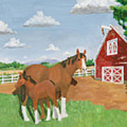 Mare And Colt Art Print