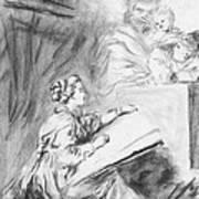 Marguerite Gerard Sketching Art Print