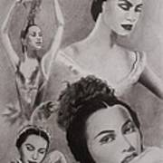 Maria Tallchief Art Print by Amber Stanford