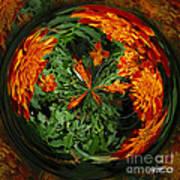 Marigold Orb II Art Print