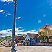 Marija Bistrica Square Colorful Panorama Art Print