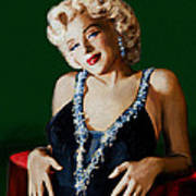 Marilyn 126 Green Art Print