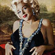 Marilyn 126 Mona Lisa Art Print