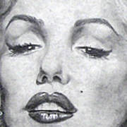 Marilyn Closeup Art Print