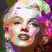 Marilyn Monroe 01 - Abstarct Art Print