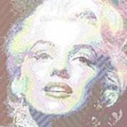 Marilyn Monroe 01 - Parallel Hatching Art Print