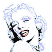 Marilyn Monroe 20130331 Square Art Print