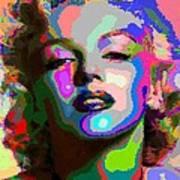 Marilyn Monroe - Abstract 1 Art Print