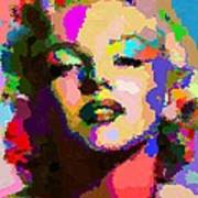 Marilyn Monroe - Abstract Art Print