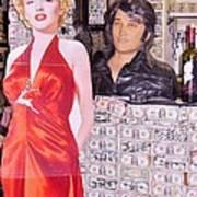 Marilyn Monroe And Elvis Art Print