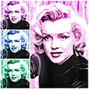 Marilyn Monroe Art Collage Art Print