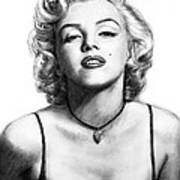 Marilyn Monroe Art Drawing Sketch Portrait Art Print