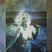 Marilyn Monroe At The Beach Art Print