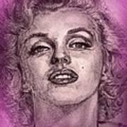 Marilyn Monroe In Pink Art Print