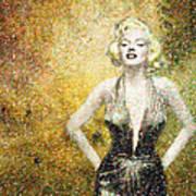 Marilyn Monroe In Points Art Print