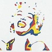 Marilyn Monroe Art Print by Juan Molina