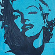 Marilyn Monroe Loves Batman Art Print